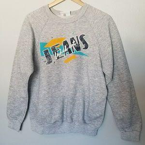 *VINTAGE* 90s Grey Graphic Sweatshirt XL